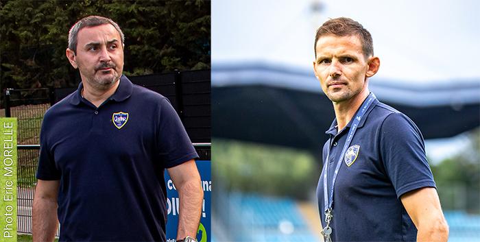 Christophe Raluy (Espoirs) et Philippe Caloni (Fédérale 1)